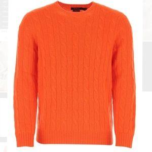 AEROPOSTALE Orange cable sweater